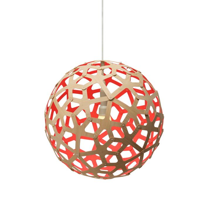 Koraal hanglamp Ø 40 cm van David Trubridge in de natuur/ rood