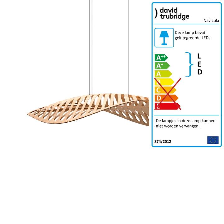 Navicula LED hanglampje klein van David Trubridge in de natuur