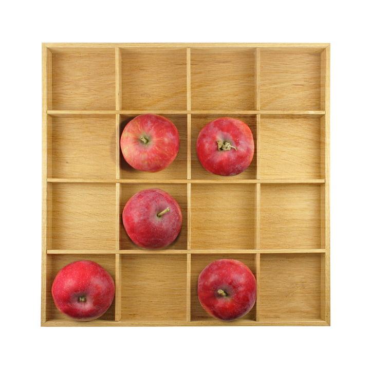 Appelbox, 31 x 31 cm, natuurlijk eikenhout, ruimteontwerp