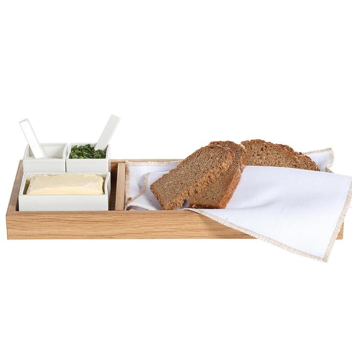 Brood, boter &, zout, eiken / wit van binnenhuisinrichting