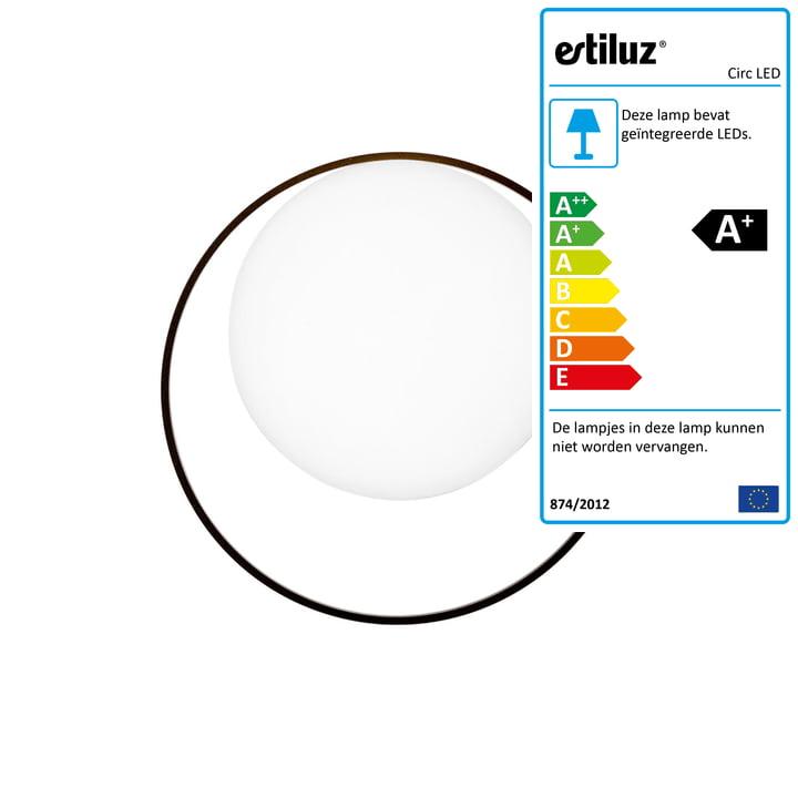Circ LED-wandlamp van Estiluz in het zwart