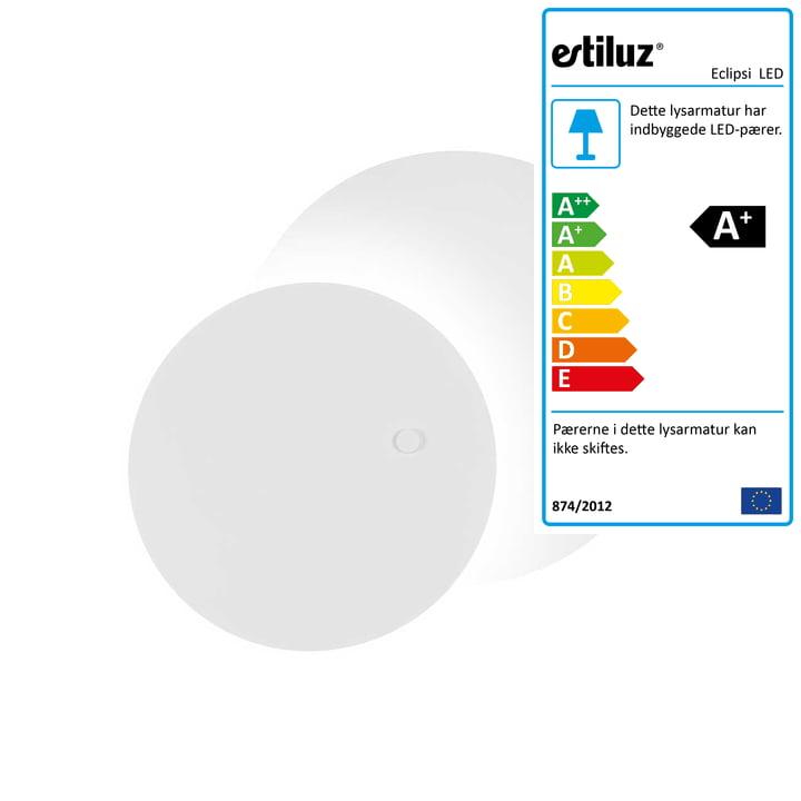 Eclipsi LED wand- en plafondverlichting Ø 50 cm van Estiluz in het wit.
