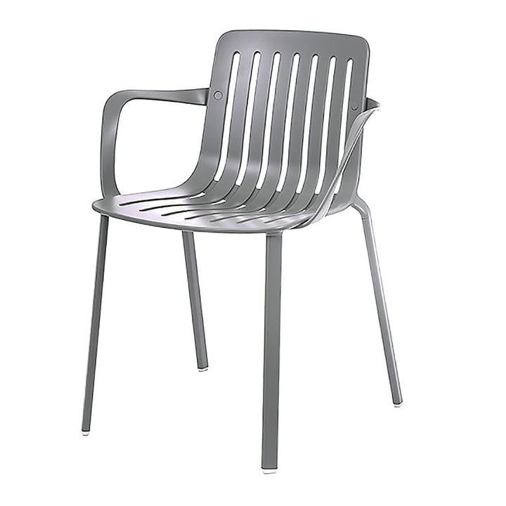 Plato fauteuil van Magis in metaalgrijs