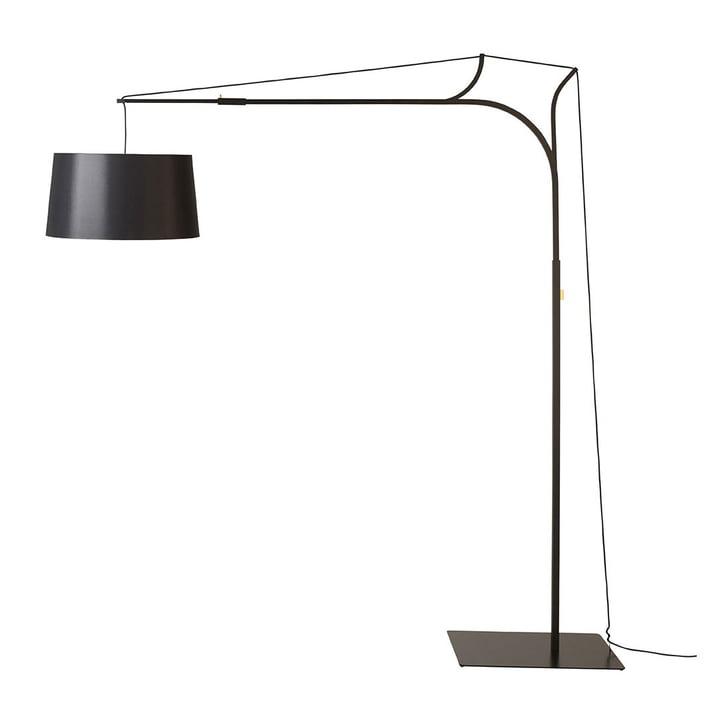 Tina vloerlamp van frauMaier in het zwart (RAL 9005)