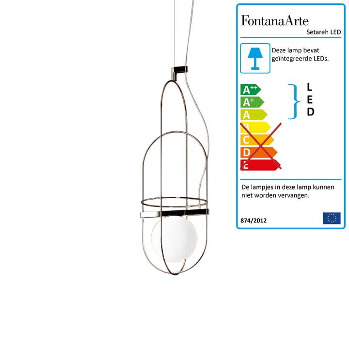 Setareh LED-hanglamp klein door FontanaArte in goud