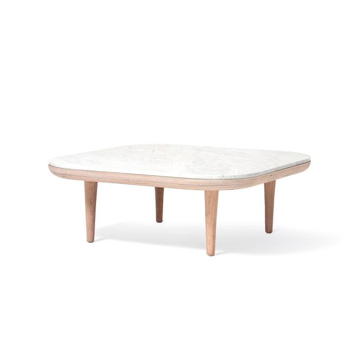 Vliegen salontafel SC4 80 x 80 cm uit de & traditie in eiken wit/marmer Bianco Carrara