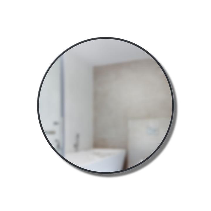 Ronde spiegelplank Ø 20 cm van Umbra in het zwart.