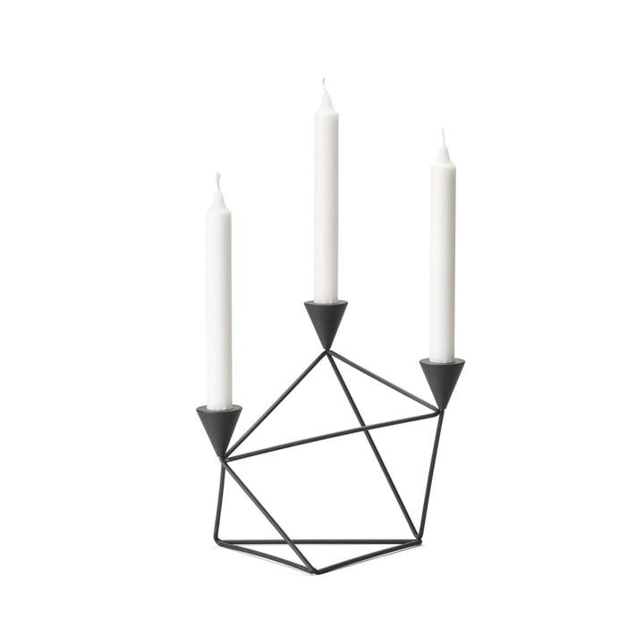 Pythagoras kandelaar van Design House Stockholm in het zwart