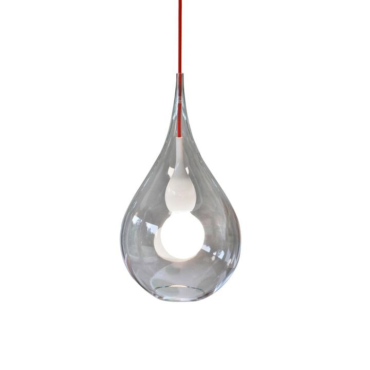 Blubb 2 pendelarmatuur van Next Home in helder / opaal / rood
