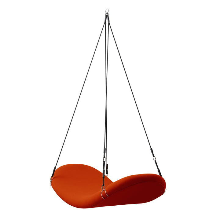 Vliegstoel, rood-oranje, (Hallingdal 65/600) door Verpan