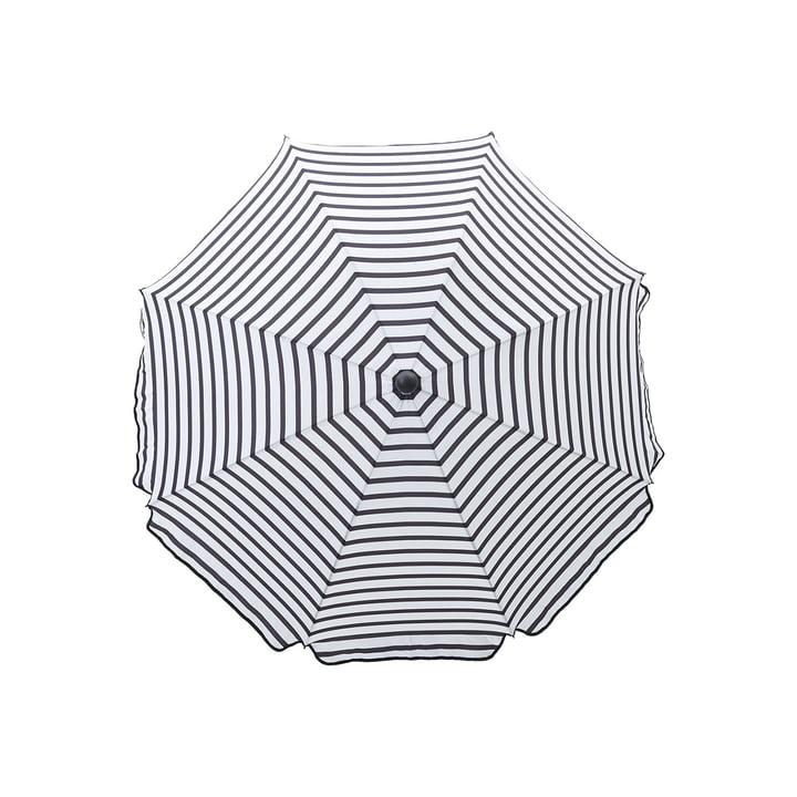 Achthoekige parasol Ø 180 cm, zwart/wit van House Doctor