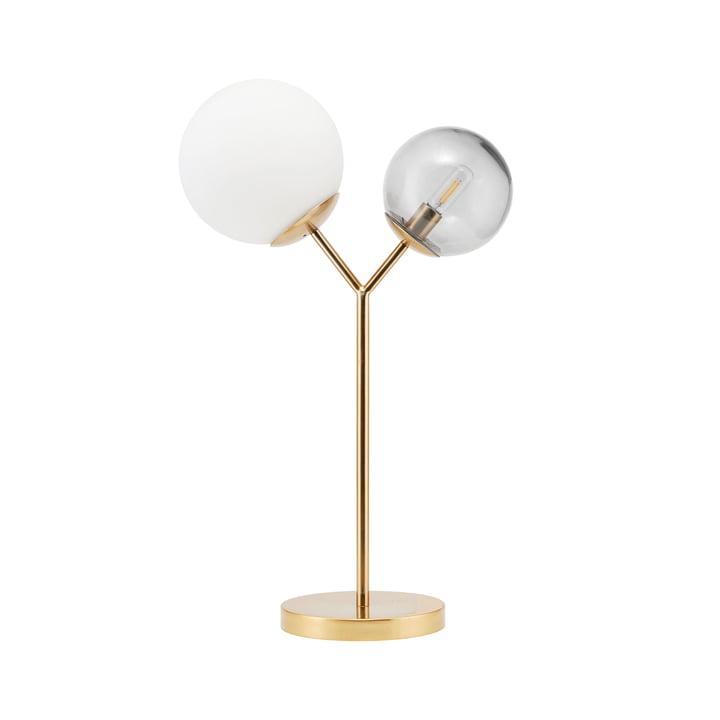 Tweemaal tafellamp H 42 cm van House Doctor in messing