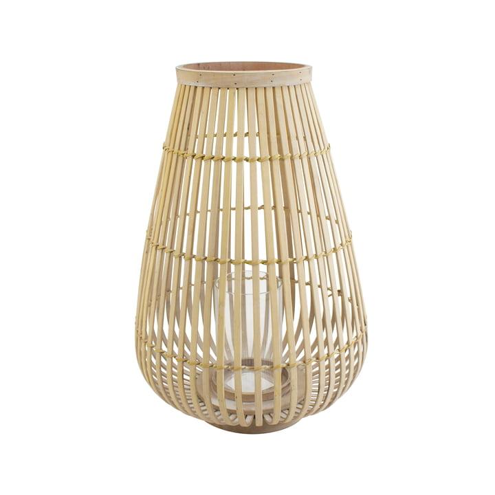 Groot bamboe windlicht in de natuur