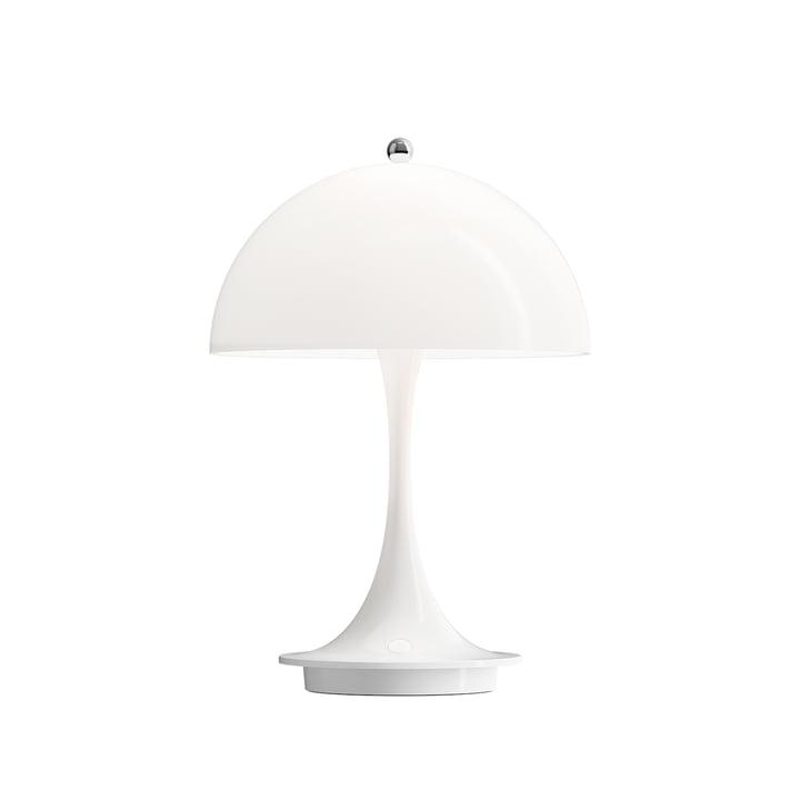 Panthella Draagbare Batterij LED tafellamp van Louis Poulsen in het wit