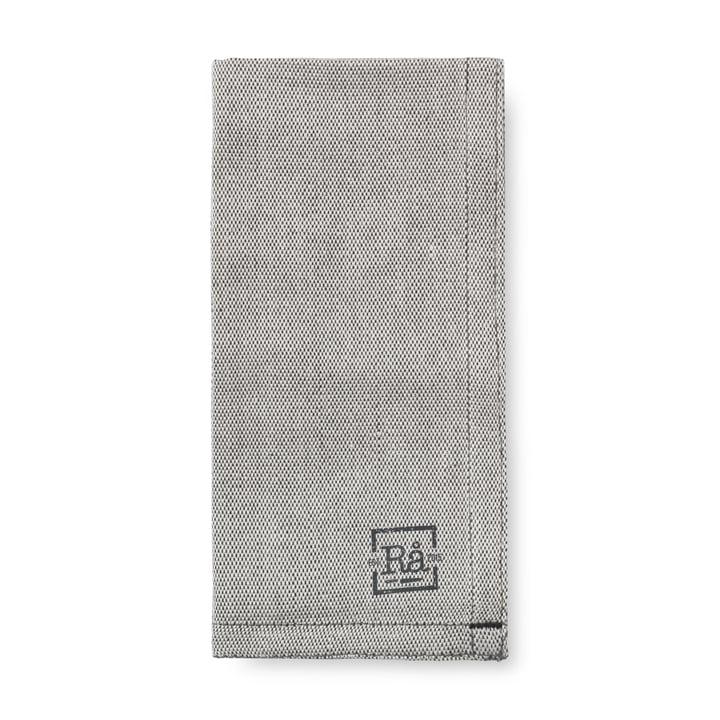 Rå laken servetten 45 x 45 cm van Juna in donkergrijs (set van 4)