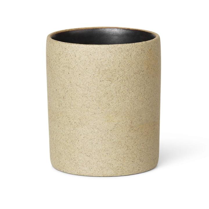 ferm Living - Bon Accessoires Cup, beige / zwart