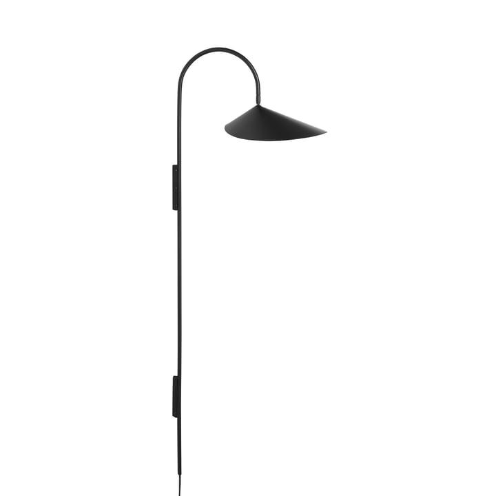 Arum Hoge wandlamp door gisting Leven in zwart
