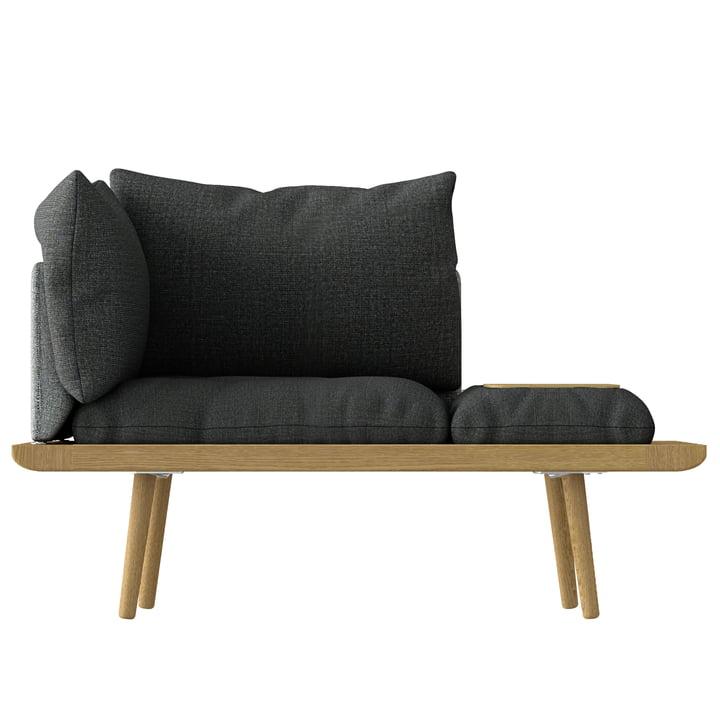 Lounge Rondom 1. 5 zitplaatsen van Umage in eiken / leisteengrijs / donkergrijs
