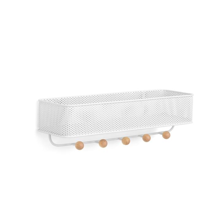 Estique garderobe met schap van Umbra in wit/natuurlijk