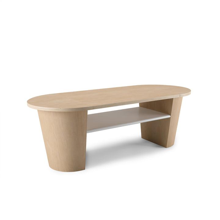 Woodrow salontafel met opbergruimte van Umbra in de natuur / wit