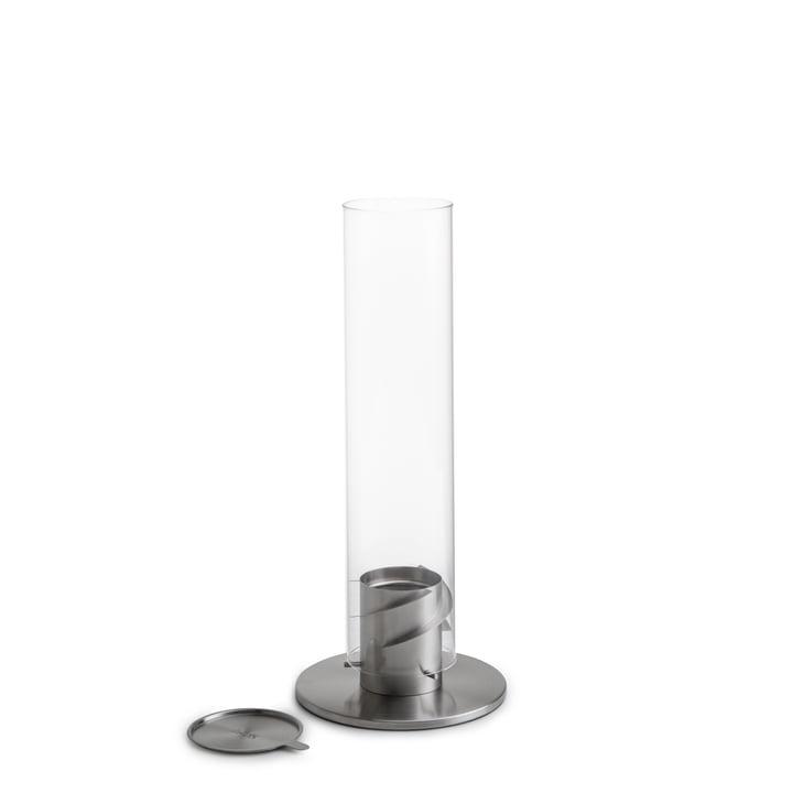 Spin Tafelvuur 90, zilver door höfats