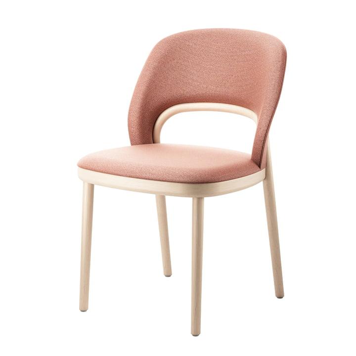 520 P Gestoffeerde stoel van Thonet gebeitst beukenhout (TP 107 verlicht) / antiek roze (Mood 3105)