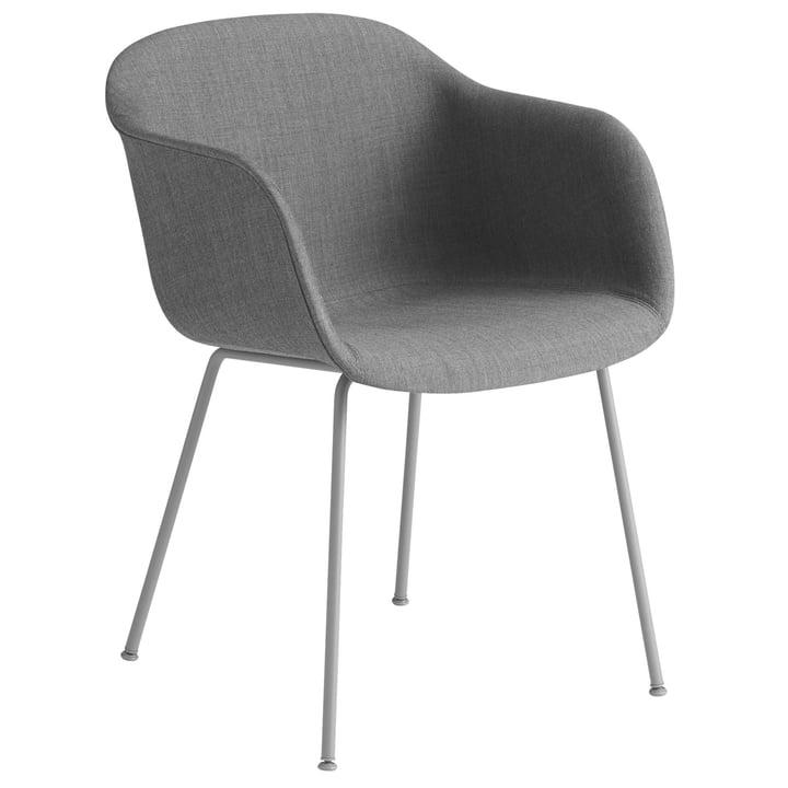 Fiber Chair Tube Base , grijs / Remix 133 door Muuto