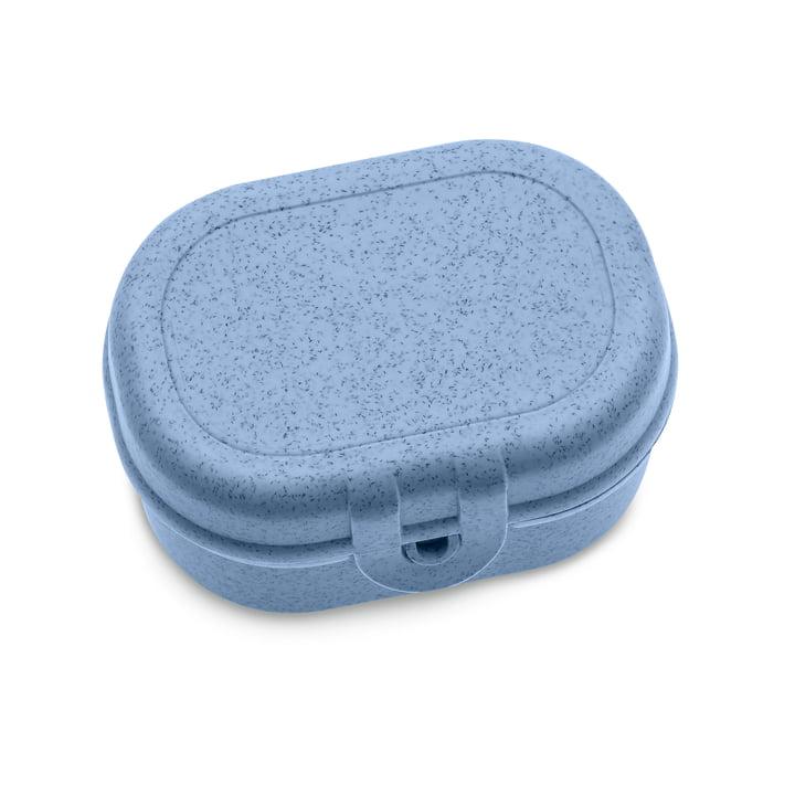 Pascal Mini Lunchbox van Koziol in organisch blauw
