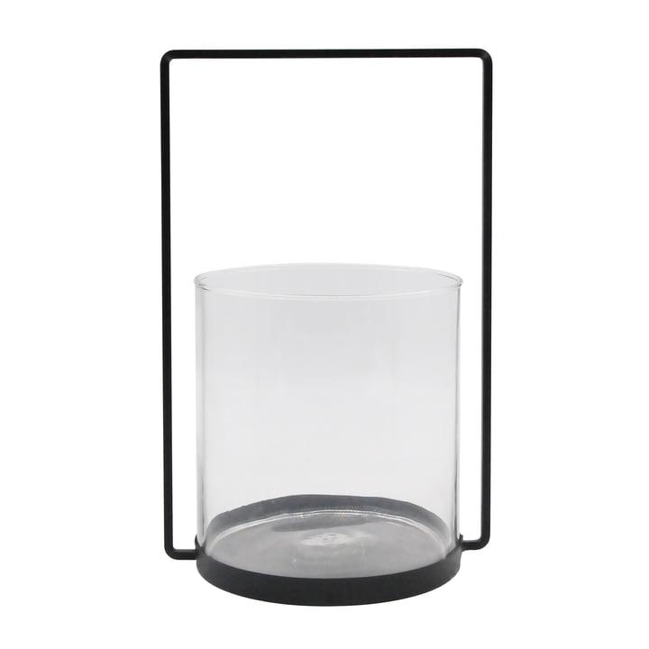 De lantaarn metaal H 36 cm, zwart van de Collection