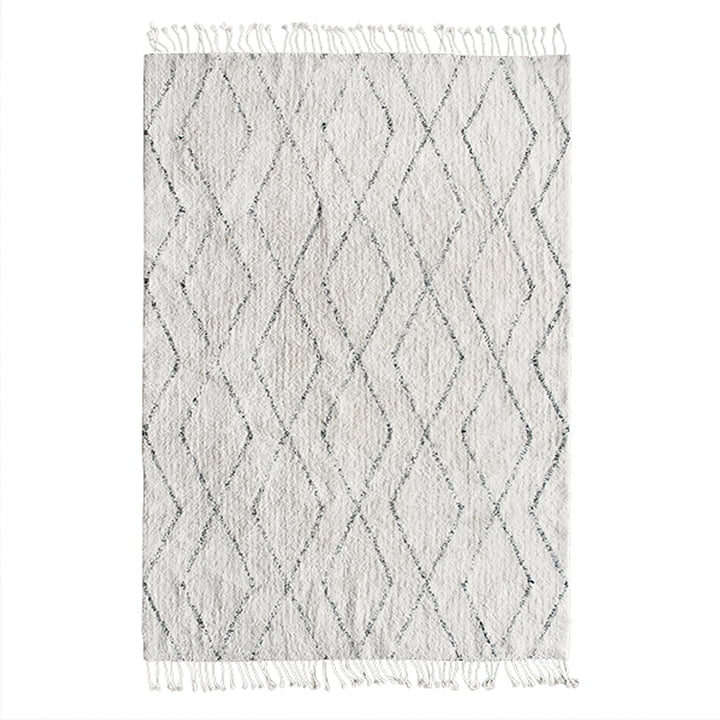 Berber tapijt 140 x 200 cm van HKliving in wit / zwart