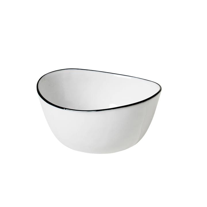 Salt kom, 10 x 11 x H 5,5 cm, wit / zwart uit Broste Copenhagen