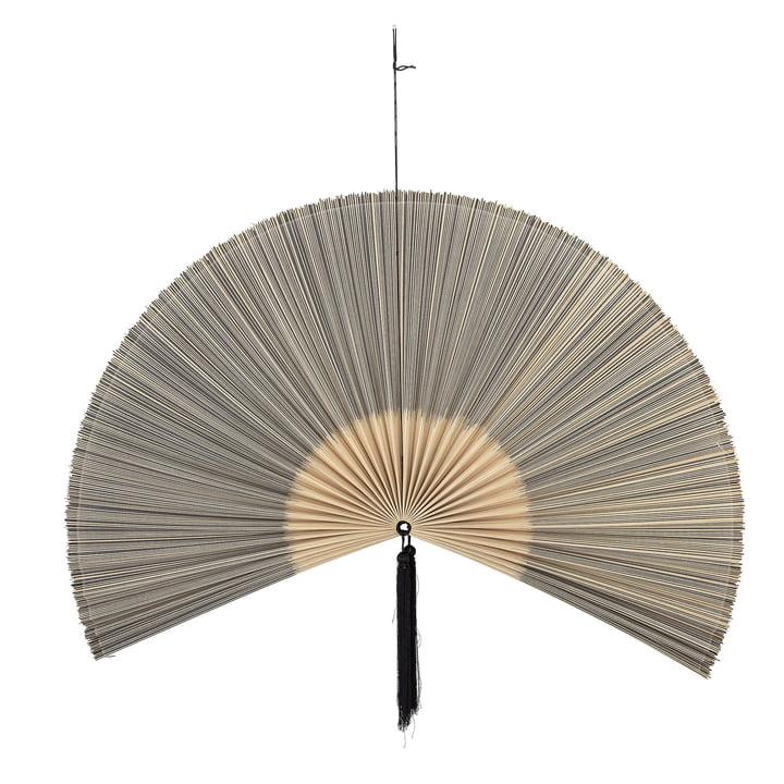 Jaime wanddecoratie waaier, 145 x 72 cm, bamboe / zwart van Bloomingville .