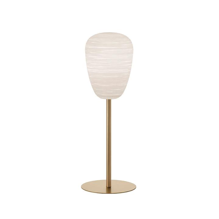 De Rituals 1 tafellamp met voet, wit / goud van Foscarini