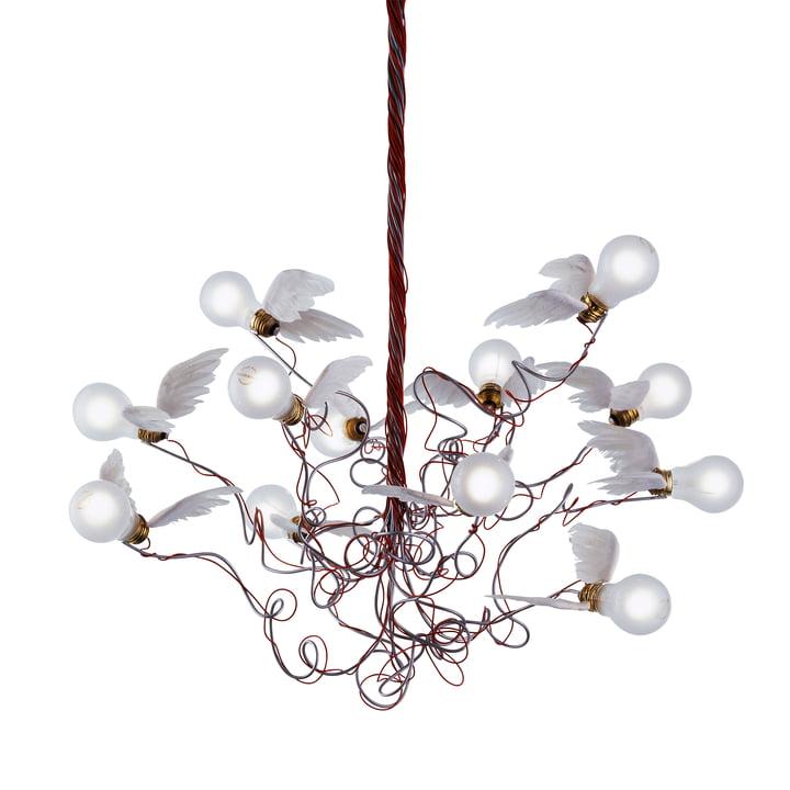 De Birdie hanglamp, rood door Ingo Maurer