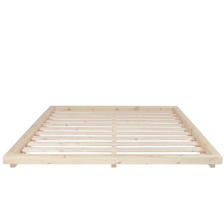 De Dock bedstede met lattenbodem, 160 x 200 cm, blank gelakt grenenhout van Karup Design