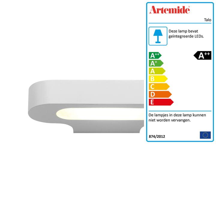 LED wandlamp Talo, 2700K / wit van Artemide
