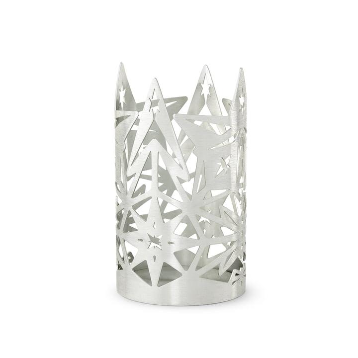 De Karen Blixen blokkaarsenhouder, H 13,5 x Ø 8 cm, zilverkleurig door Rosendahl