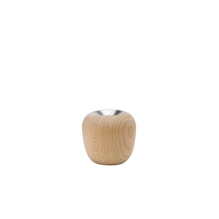 De Ora kandelaar, Ø 7,4 x H 7 cm, beuk van Stelton