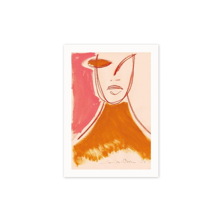 De Pink Portrait poster, 30 x 40 cm van Paper Collective