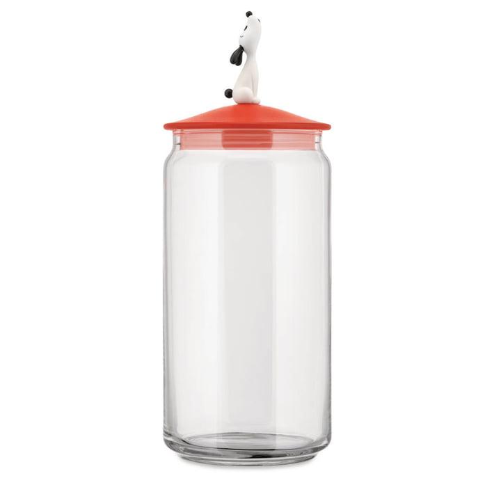 De Lulà container voor hondenvoer, rood-oranje door Alessi