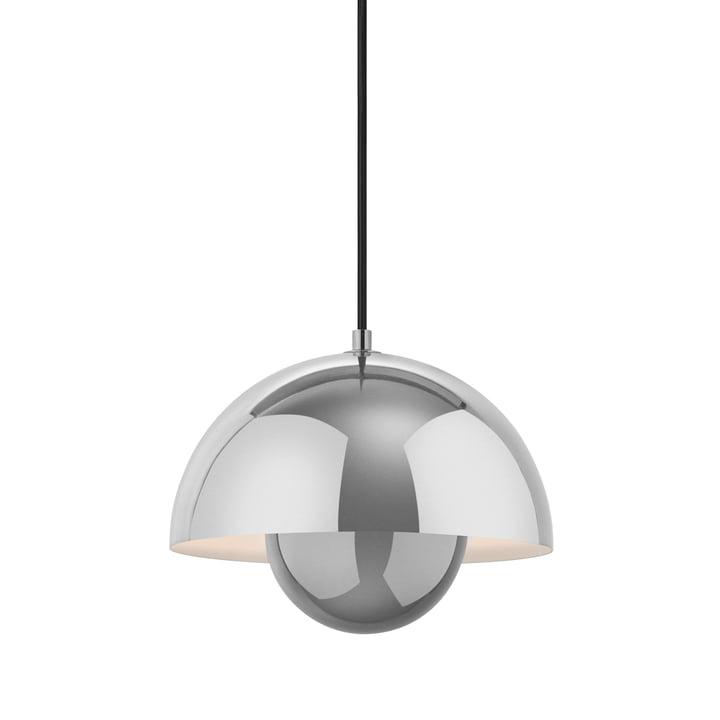 FlowerPot hanglamp VP1 van & Traditie in gepolijst roestvrij staal