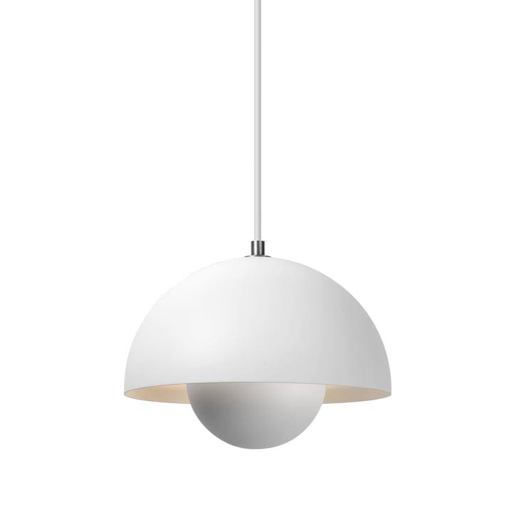 De FlowerPot hanglamp VP1 van & Tradition, mat wit