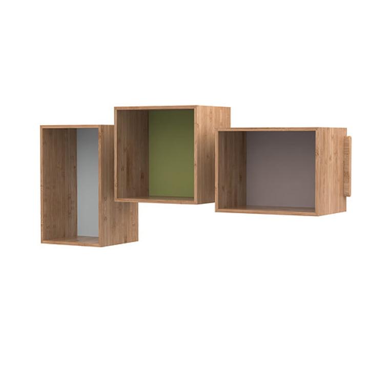 De SJ Boekenkast Midi (set van 3), eik van We Do Wood