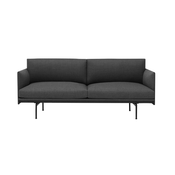 De Outline Sofa 2-zits van Muuto in het grijs