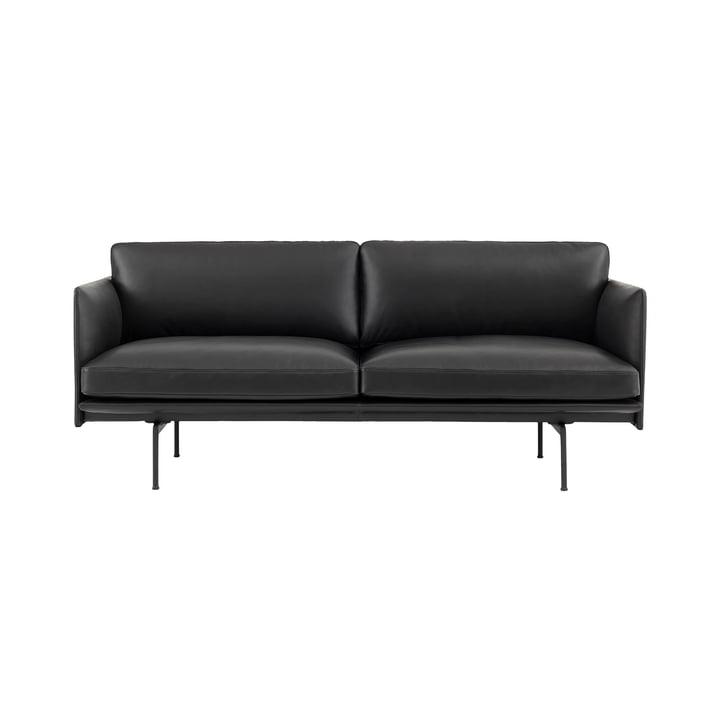 De Outline Sofa 2-zits van Muuto in het zwart