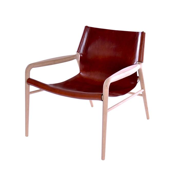 Rama Lounge Chair , gezeepte eik/leer cognac van Ox Denmarq