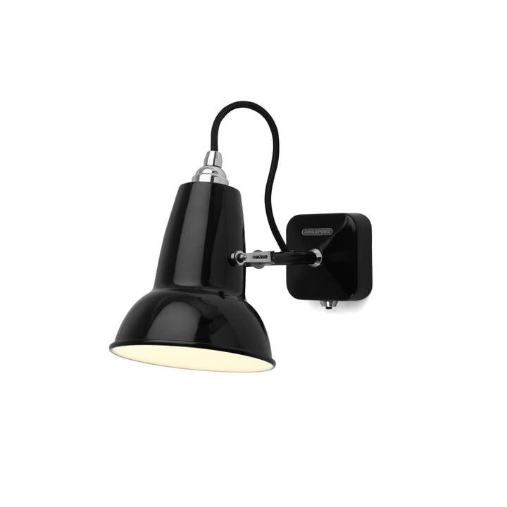 Originele 1227 Miniwandlamp, kabel zwart, Straal door Hoekpaal, Straal door Hoek
