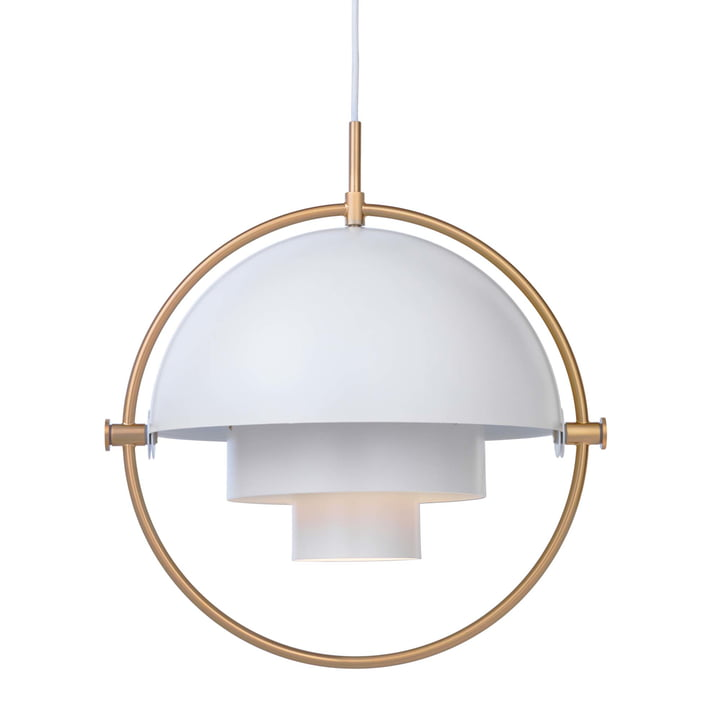 Multi-Lite Hanglamp Ø 36 cm van Gubi in messing / wit