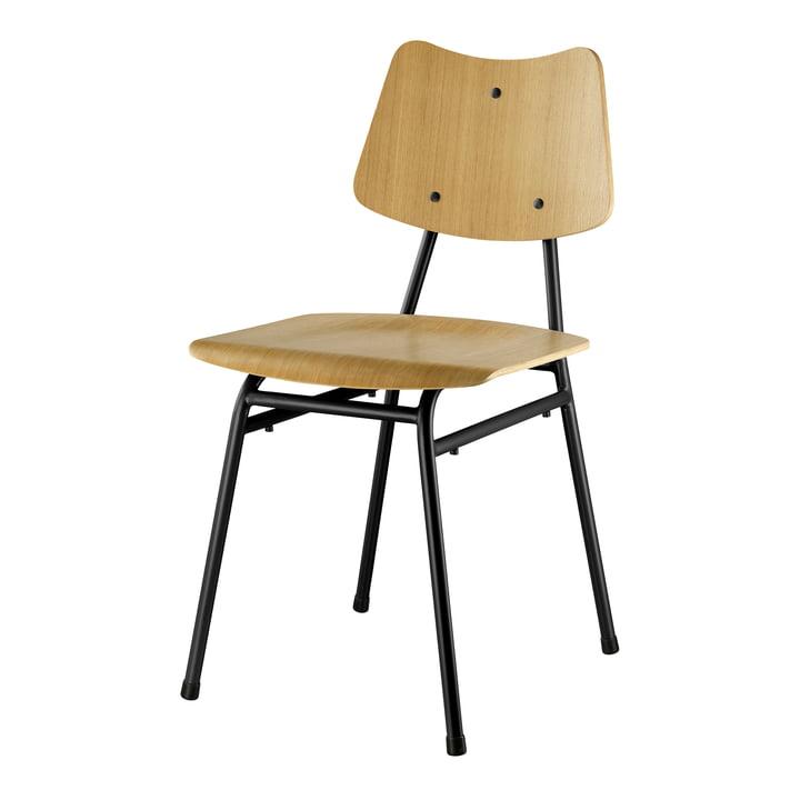 De J173 stoel van FDB Møbler in natuurlijk eiken / zwart