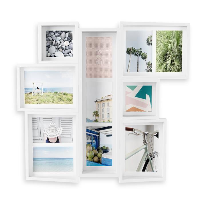 Het Edge multi-image frame (muur) van Umbra in het wit.